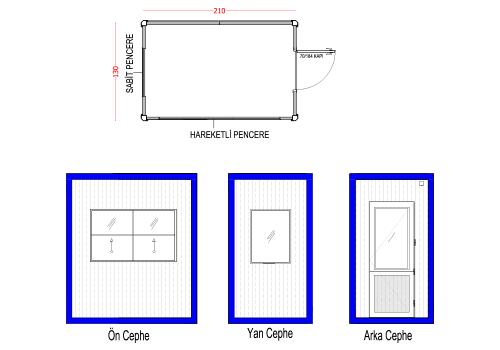 130 x 210 Panel Kabin