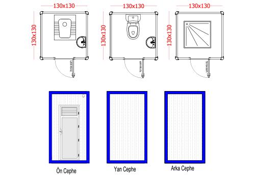 130X130 WC PANEL KABIN