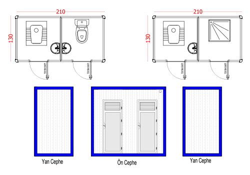 130X210 WC PANEL KABIN
