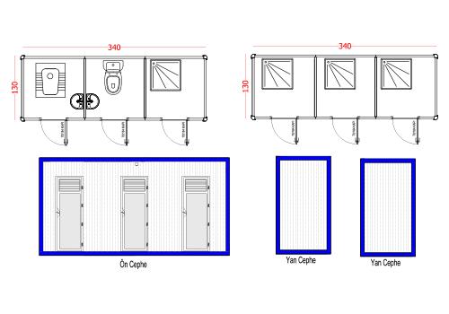 130X340 WC PANEL KABIN
