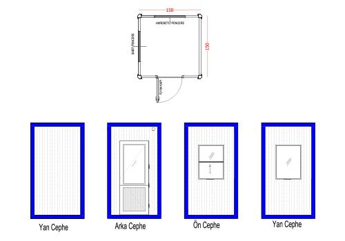 150 x 150 Panel Kabin