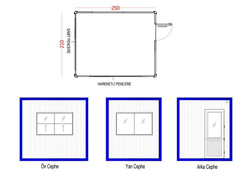 210 x 250 Panel Kabin