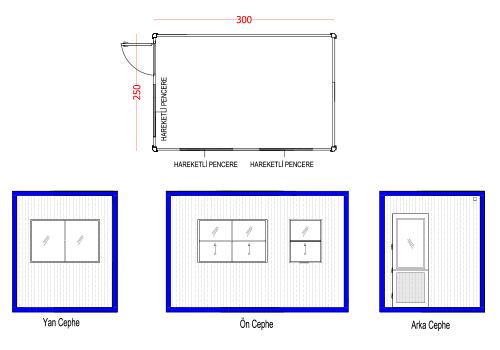 250 x 300 Panel Kabin