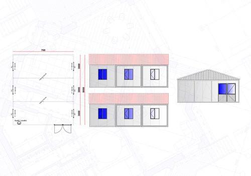 63 m² Yemekhane Konteyneri